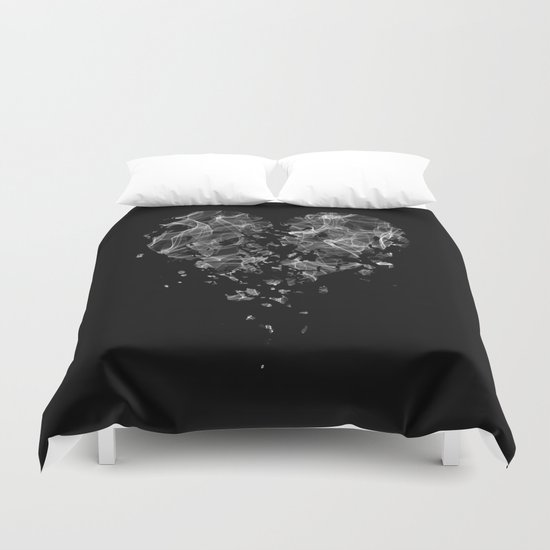 smoke broken heart Duvet Cover
