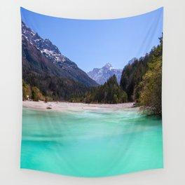 Stunning turquoise water in Kranjska Gora, Slovenia Wall Tapestry