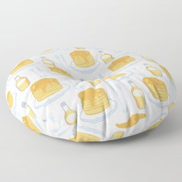 Cute vector pancake day breakfast illustration Floor Pillow