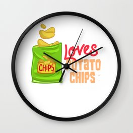 Chips Snacks Gift Snaccident Potato Chips Wall Clock