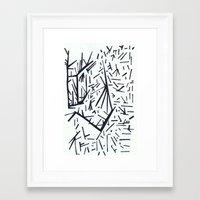 pi Framed Art Prints featuring pi by Ana Vânia Fonseca