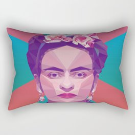 Frida Kahlo Low Poly Collection Rectangular Pillow
