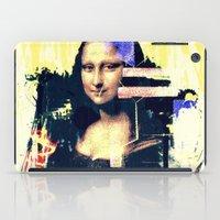 mona lisa iPad Cases featuring mona lisa by manish mansinh