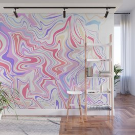 Abstract Colorful Marble Wall Mural
