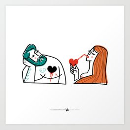 Bitter Sweet Love - Man & Woman Art Print