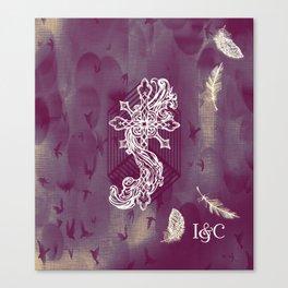 Gothic Cross: purple Canvas Print