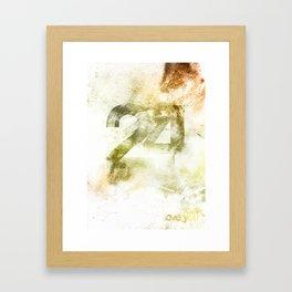 24 Framed Art Print