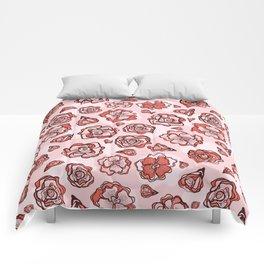 Retro Flower Rose Buds Comforters