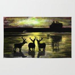 Sundown on Scottish Loch Rug