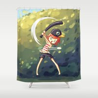 baseball Shower Curtains featuring Baseball by Freeminds