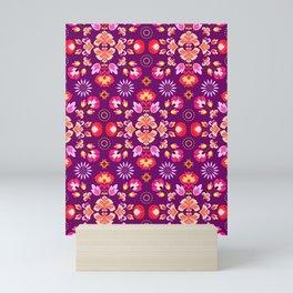 Fiesta Folk Purple #society6 #folk Mini Art Print