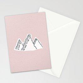 I Lift My Eyes Unto The Hills Stationery Cards