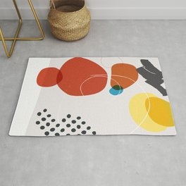 Shape & Hue Series No. 2 – Yellow, Orange & Blue Modern Abstract Rug