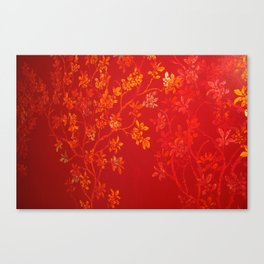 Gold Cherry Blossoms Canvas Print