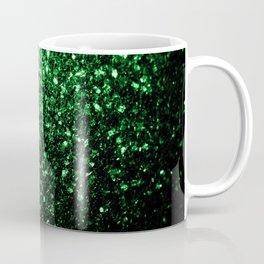 Glamour Dark Green glitter sparkles Coffee Mug