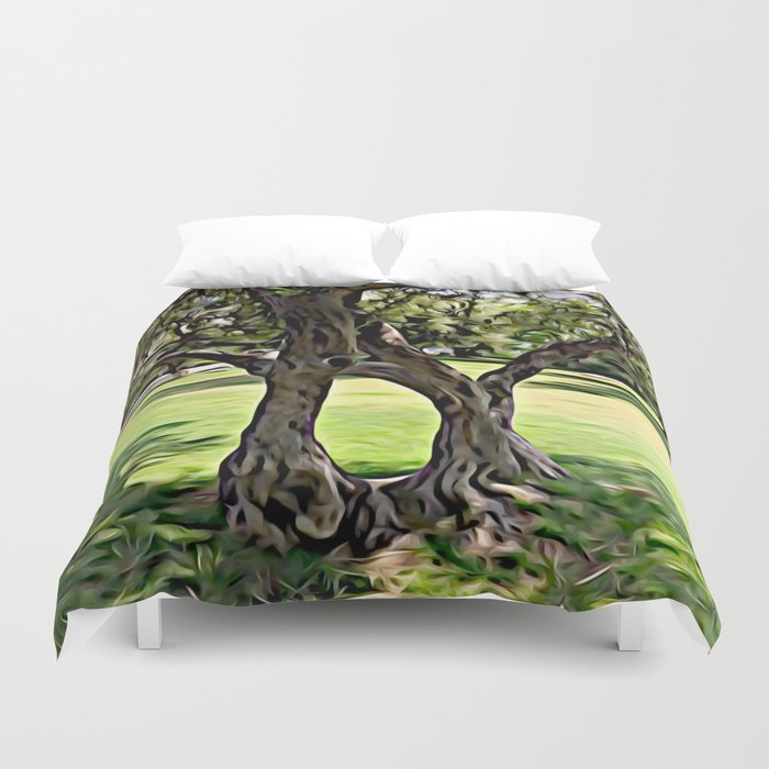 Dance of the Olive Tree Duvet Cover