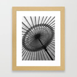 Oil-Paper Parasol Framed Art Print