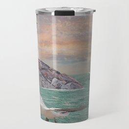 Seabirds at Rocky Point Lighthouse Travel Mug