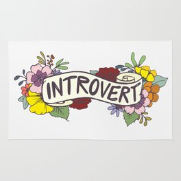 Floral Introvert Banner Rug