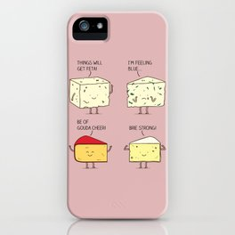 cheesy puns iPhone Case