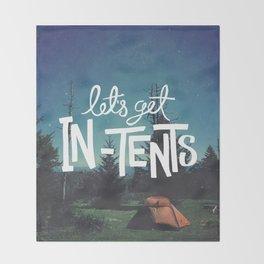 Let's Get In-Tents Throw Blanket