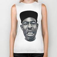 tyler the creator Biker Tanks featuring IFHY (Tyler the creator) by Black Neon