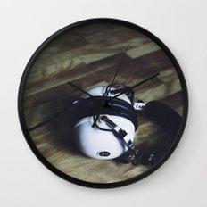 vintage headphone Wall Clock