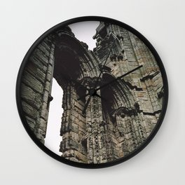 Whitby Abbey Gothic Wall Clock