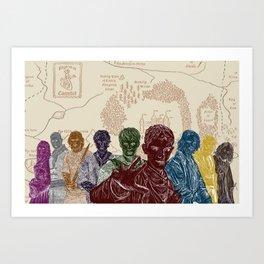 Camelot's Warriors Art Print