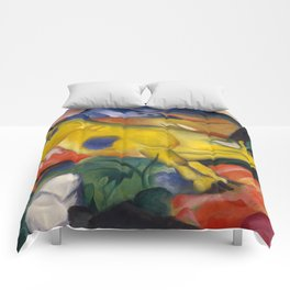 """Franz Marc """"Yellow cow"""" Comforters"""
