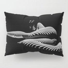 8428-KMA BW Art Nude Abstract Zebra Stripe Woman Long Legs Pillow Sham