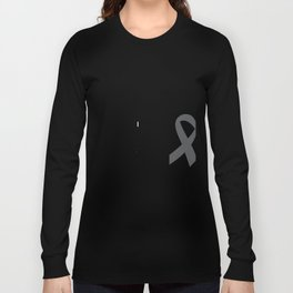 Brain Cancer Support Mom Long Sleeve T-shirt