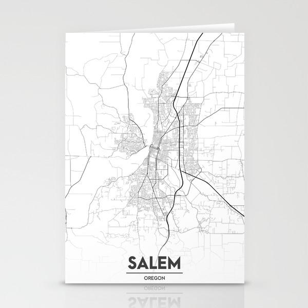 Minimal City Maps - Map Of Salem, Oregon, United States Stationery on west oregon map, salem witch trials map, salem new york, salem illinois, salem oregon, salem state map,