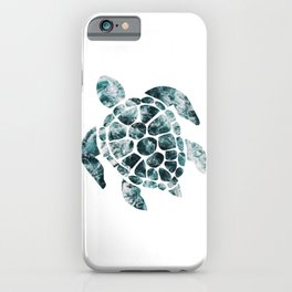 Sea Turtle - Turquoise Ocean Waves iPhone Case