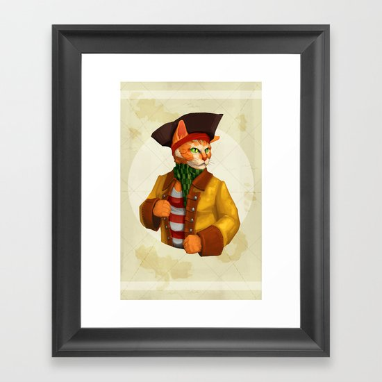 Pirate Cat Framed Art Print