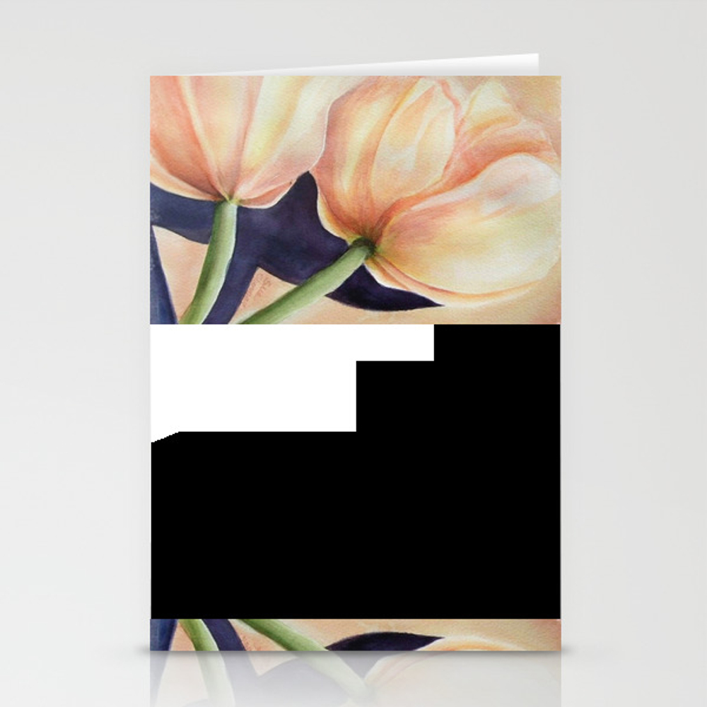 Two Tulips 4 U Stationery Cards by Fancifulwatercolors CRD9035865