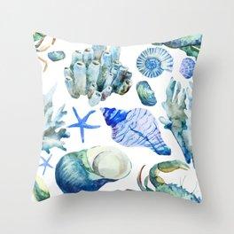 Sea Life Pattern 05 Throw Pillow