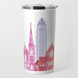 Charlotte skyline pop Travel Mug