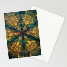 Tribal mandala in blue and gold Stationery Cards