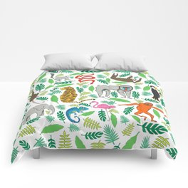 Animals in the Jungle Comforters