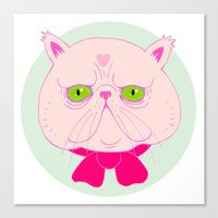 persian Canvas Prints featuring Persian Cat by Madelen Foss