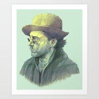 sherlock holmes Art Prints featuring sherlock holmes by Doruktan Turan