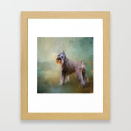 Schnauzer On Patrol Framed Art Print