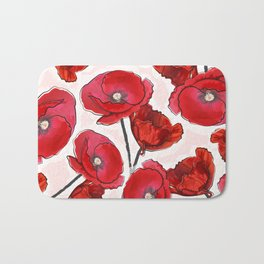 the poppy Bath Mat