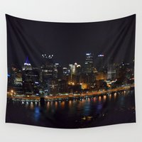 pittsburgh Wall Tapestries featuring Pittsburgh Tour Series - City by Sarah Shanely Photography