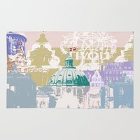 copenhagen Area & Throw Rugs featuring Copenhagen Collage by Tokyo Rose
