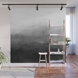 Ombre Paint Color Wash (black/white) Wall Mural