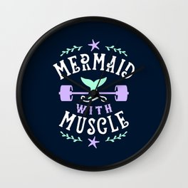 Mermaid With Muscle Wall Clock