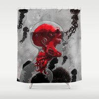 politics Shower Curtains featuring Control by angrymonk