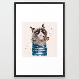 Sailor Cat III Framed Art Print